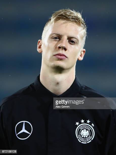 Timo Baumgartl of Germany looks on prior to the UEFA Under21 Euro 2019 Qualifier match between Azerbaijan U21 and Germany U21 at Dalga Arena on...