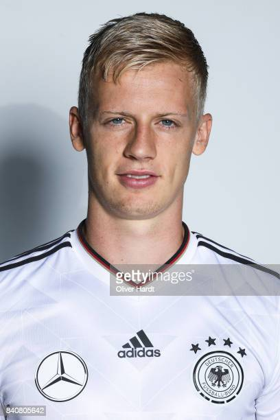 Timo Baumgartl of Germany poses for the Germany U21 Team Presentation on August 29 2017 in Harsewinkel Germany