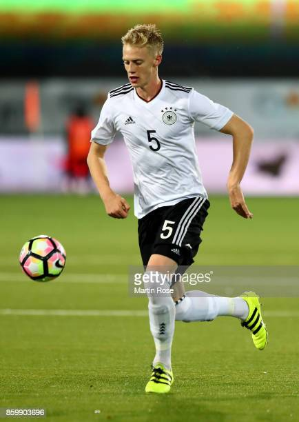 Timo Baumgartl of Germany runs with the ball during the UEFA Under21 Euro 2019 Qualifier match between U21 of Norway and U21 of Germany at Marienlyst...