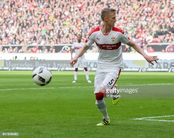 Timo Baumgartl of Stuttgart controls the ball during the Second Bundesliga match between VfB Stuttgart and SV Sandhausen at MercedesBenz Arena on...
