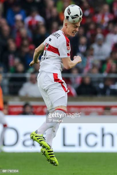 Timo Baumgartl of Stuttgart controls the ball during the Second Bundesliga match between VfB Stuttgart and FC Erzgebirge Aue at MercedesBenz Arena on...