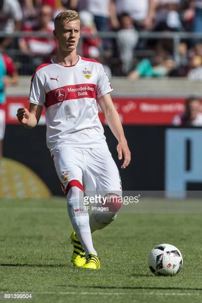 Timo Baumgartl of Stuttgart controls the ball during the Second Bundesliga match between VfB Stuttgart and FC Wuerzburger Kickers at MercedesBenz...