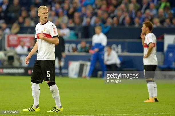 Timo Baumgartl of Stuttgart looks on during the Bundesliga match between FC Schalke 04 and VfB Stuttgart at VeltinsArena on September 10 2017 in...