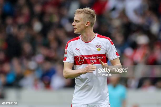 Timo Baumgartl of Stuttgart looks on during the Second Bundesliga match between VfB Stuttgart and FC Erzgebirge Aue at MercedesBenz Arena on May 7...