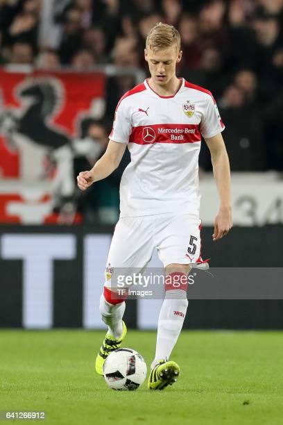 Timo Baumgartl of Suttgart in action during the Second Bundesliga match between VfB Stuttgart and Fortuna Duesseldorf at MercedesBenz Arena on...