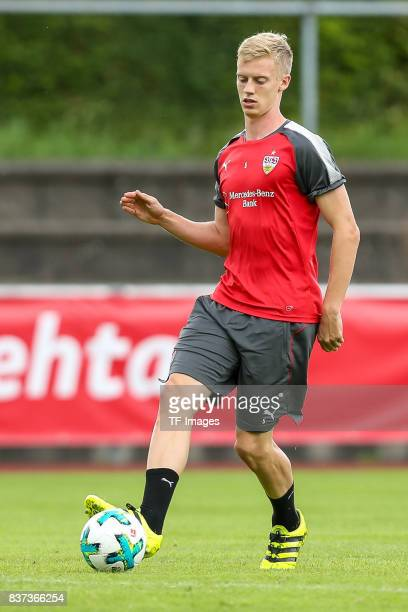 Timo Baumgartl of VfB Stuttgart controls the ball during the Training Camp of VfB Stuttgart on July 10 2017 in Grassau Germany