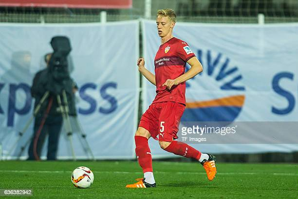 Timo Baumgartl of VfB Stuttgart in action during a friendly match between VfB Stuttgart and VfL Bochum at Titanic Deluxe Sports Ground on January 10...