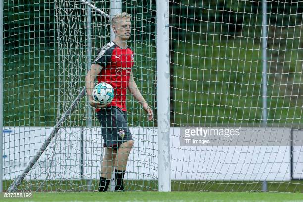 Timo Baumgartl of VfB Stuttgart looks on during the Training Camp of VfB Stuttgart on July 10 2017 in Grassau Germany