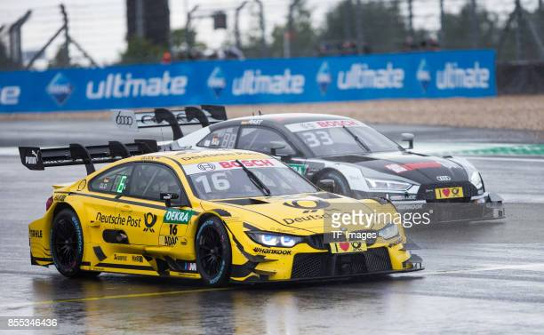 Timo Glock and Rene Rast drives during the Qualifying race of the DTM 2017 German Touring Car Championship at Nuerburgring on Septembmber 9 2017 in...