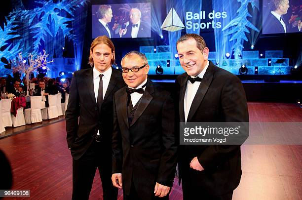 Timo Hildebrand Felix Magath and Tom Bender attend the 2009 Sports Gala 'Ball des Sports' at the RheinMain Hall on February 6 2010 in Wiesbaden...