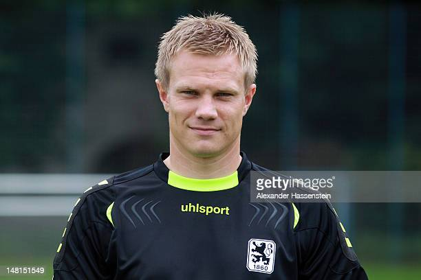 Timo Ochs of 1860 Muenchen poses during the Second Bundesliga team presentation of TSV 1860 Muenchen on July 11 2012 in Munich Germany