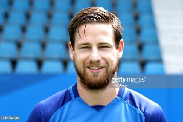 Timo Perthel of VfL Bochum poses during the team presentation at Vonovia Ruhrstadion on July 11 2017 in Bochum Germany