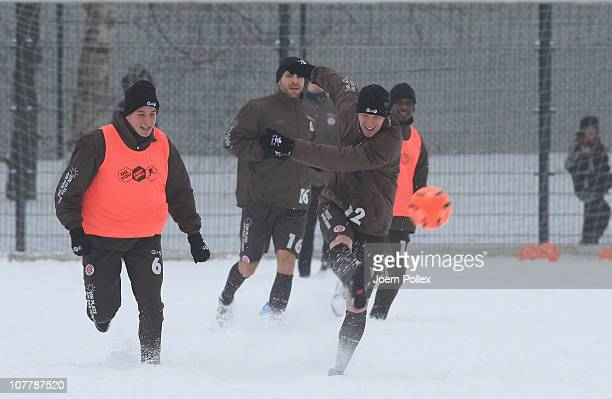 Timo Schultz of St Pauli controls the ball during a training session on December 27 2010 in Hamburg Germany