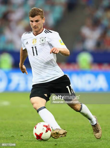 Timo Werner of Germany in action during the FIFA Confederations Cup Russia 2017 Group B match between Germany and Cameroon at Fisht Olympic Stadium...