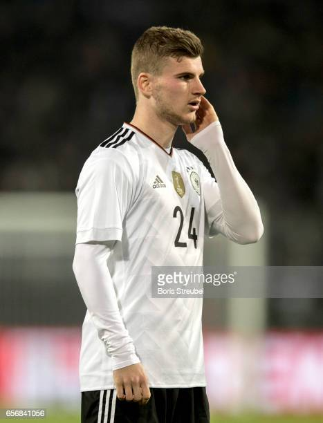 Timo Werner of Germany looks on during the international friendly match between Germany and England at Signal Iduna Park on March 22 2017 in Dortmund...