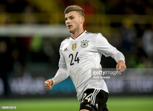 Timo Werner of Germany runs during the international friendly match between Germany and England at Signal Iduna Park on March 22 2017 in Dortmund...