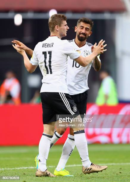 Timo Werner of Germany scores his sides second goal with Kerem Demirbay of Germany during the FIFA Confederations Cup Russia 2017 Group B match...