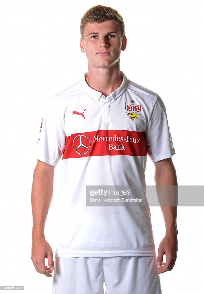 Timo Werner poses during the VfB Stuttgart Media Day on July 24, 2014 in Stuttgart, Germany.
