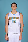 Timofey Mozgov of the Denver Nuggets pose for portraits during NBA Media Day on September 23 2014 at the Pepsi Center in Denver Colorado NOTE TO USER...