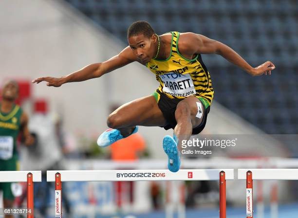 Timor Barrett of Jamaica competes in the semi final of the mens 400m hurdles during the evening session on day 4 of the IAAF World Junior...