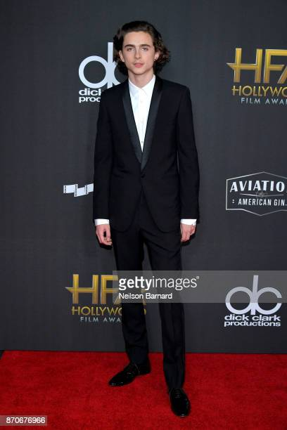 Timothée Chalamet attends the 21st Annual Hollywood Film Awards at The Beverly Hilton Hotel on November 5 2017 in Beverly Hills California