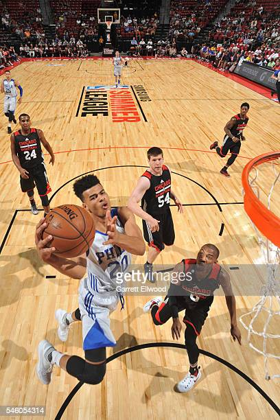 Timothe Luwawu Cabarrot of Philadelphia 76ers shoots the ball against the Chicago Bullsduring 2016 Summer League on July 10 2016 at the Thomas Mack...