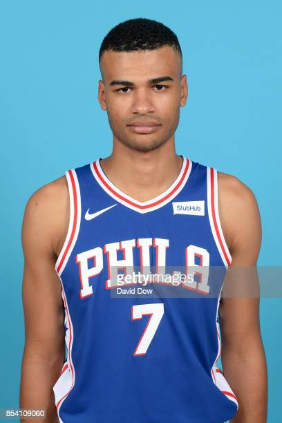 Timothe LuwawuCabarrot of the Philadelphia 76ers poses for a head shot during media day at Wells Fargo Center in Philadelphia Pennsylvania on...
