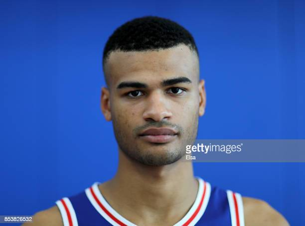 Timothe LuwawuCabarrot of the Philadelphia 76ers poses for a portrait during the Philadelphia 76ers Media Day on September 25 2017 at the...