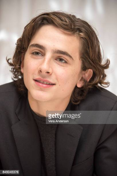 Timothee Chalamet at the 'Call Me by Your Name' Press Conference at the Fairmont Royal York Hotel on September 8 2017 in Toronto Canada