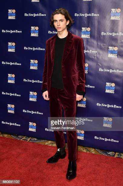 Timothee Chalamet attends IFP's 27th Annual Gotham Independent Film Awards at Cipriani Wall Street on November 27 2017 in New York City