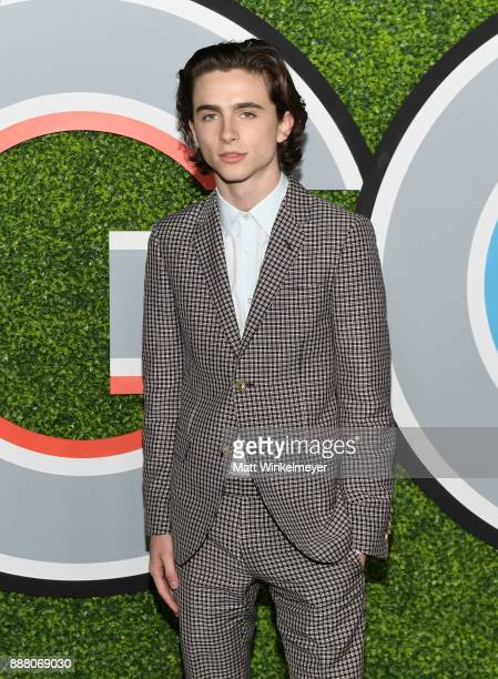 Timothee Chalamet attends the 2017 GQ Men of the Year party at Chateau Marmont on December 7 2017 in Los Angeles California