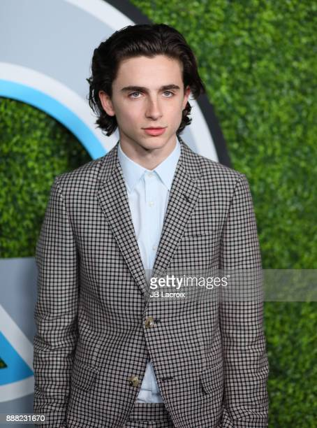 Timothee Chalamet attends the 2017 GQ Men of The Year Party on December 07 2017 in Los Angeles California