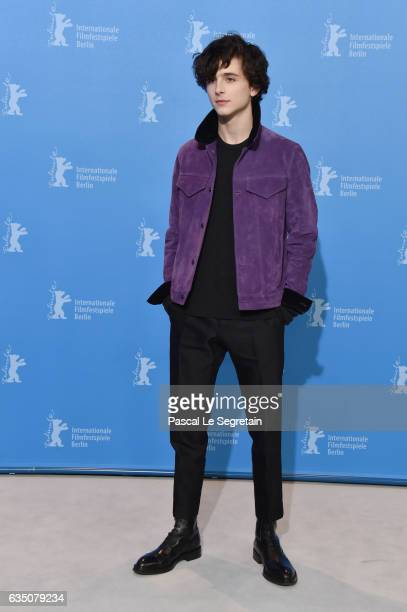 Timothee Chalamet attends the 'Call Me by Your Name' photo call during the 67th Berlinale International Film Festival Berlin at Grand Hyatt Hotel on...