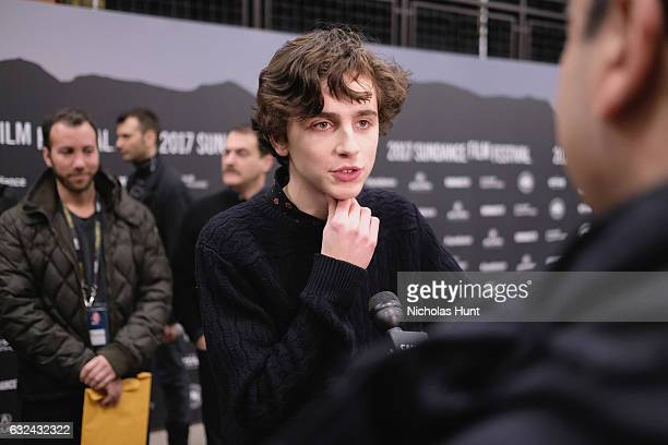 Timothee Chalamet attends the 'Call Me By Your Name' Premiere on day 4 of the 2017 Sundance Film Festival at Eccles Center Theatre on January 22 2017...