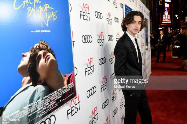Timothee Chalamet attends the screening of 'Call Me By Your Name' at AFI FEST 2017 Presented By Audi at TCL Chinese Theatre on November 10 2017 in...