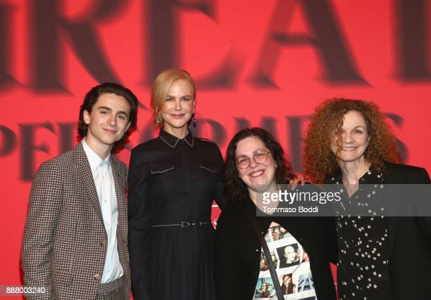 Timothee Chalamet Nicole Kidman Amy Kellner and Kathy Ryan at The New York Times Magazine Celebrates 'The Great Performers Issue' 2017 on December 7...