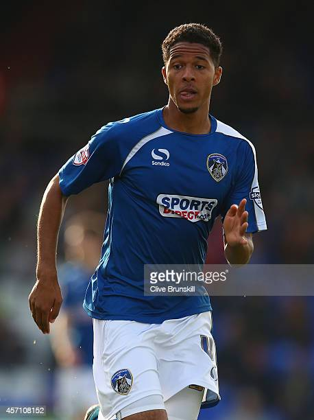 Timothee Dieng of Oldham Athletic in action during the Sky Bet League One match between Oldham Athletic and Walsall at Boundary Park on October 11...