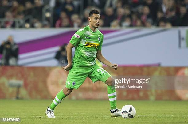 Timothee Kolodziejczak of Borussia Moenchengladbach controls the ball during the Telekom Cup match between Borussia Moenchengladbach and Fortuna...