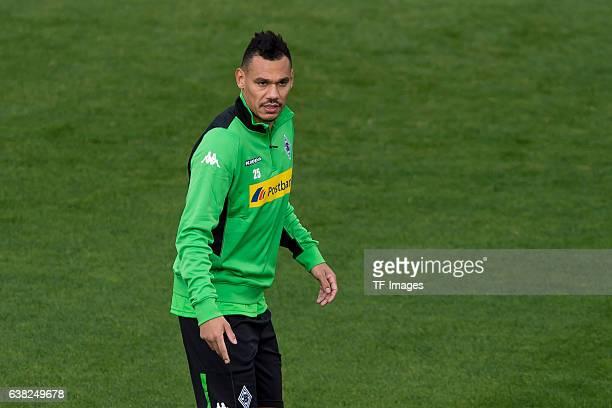 Timothee Kolodziejczak of Borussia Moenchengladbach during a Training Session at Borussia Moenchengladbach Training Camp on January 07 2017 in...