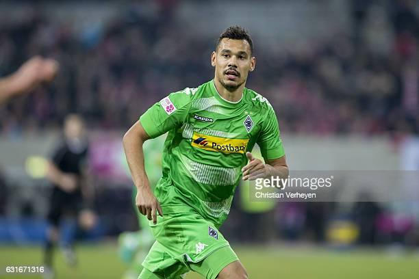 Timothee Kolodziejczak of Borussia Moenchengladbach during the Telekom Cup match between Borussia Moenchengladbach and 1FSV Mainz 05 at EspritArena...