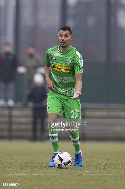 Timothee Kolodziejczak of Borussia Moenchengladbach during the Friendly Match between Borussia Moenchengladbach and VfL Bochum at BorussiaPark on...