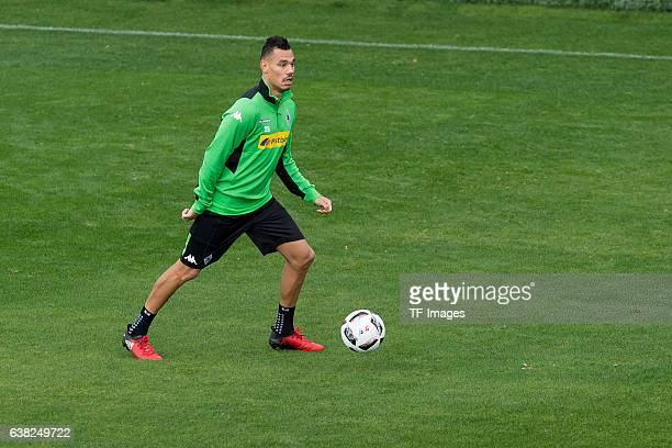 Timothee Kolodziejczak of Borussia Moenchengladbach in action during a Training Session at Borussia Moenchengladbach Training Camp on January 07 2017...