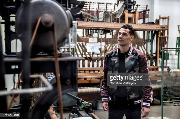 Timothee Kolodziejczak poses during a portrait session on April 06 2017 in Moenchengladbach Germany