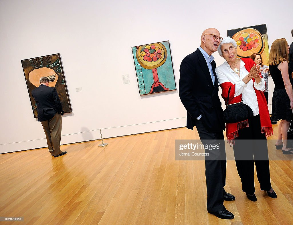 Timotheus Pohl and Adel Silver look at various works by Henri Matisse on display at the opening reception for Matisse: Radical Invention 1913-1917 at the The Museum of Modern Art on July 13, 2010 in New York City.