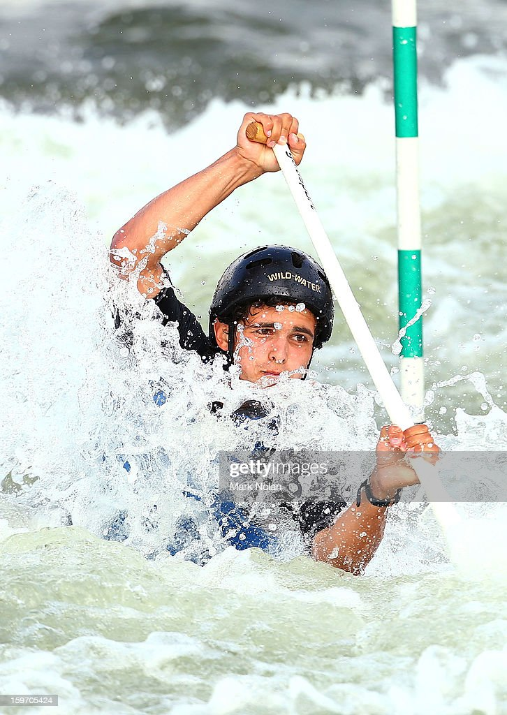Timothy Anderson of Australia competes in the Men's Canoe during day four of the Australian Youth Olympic Festival at the Penrith White Water Stadium on January 19, 2013 in Sydney, Australia.