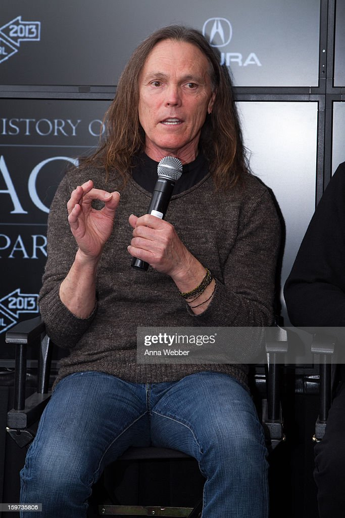 <a gi-track='captionPersonalityLinkClicked' href=/galleries/search?phrase=Timothy+B.+Schmit&family=editorial&specificpeople=564214 ng-click='$event.stopPropagation()'>Timothy B. Schmit</a> of the Eagles attends 'History of the Eagles' Documentary Announcement - 2013 Park City on January 19, 2013 in Park City, Utah.