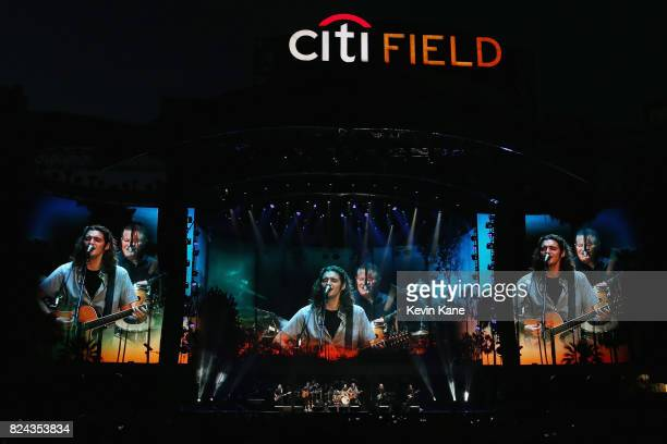 Timothy B Schmit Vince Gill Don Henley Deacon Frey and Joe Walsh perform onstage with The Eagles during The Classic East Day 1 at Citi Field on July...
