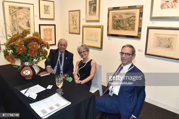 Timothy Baum Audrey Isselbacher and David Liebman attend the IFPDA Fine Art Print Fair Opening Preview at The Jacob K Javits Convention Center on...