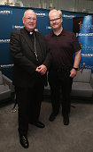 Timothy Cardinal Dolan and Jim Gaffigan visit SiriusXM Townhall at SiriusXM Studio on June 28 2016 in New York City