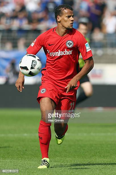 Timothy Chandler of Frankfurt controles the ball during the Bundesliga match between SV Darmstadt 98 and Eintracht Frankfurt at JonathanHeimesStadion...